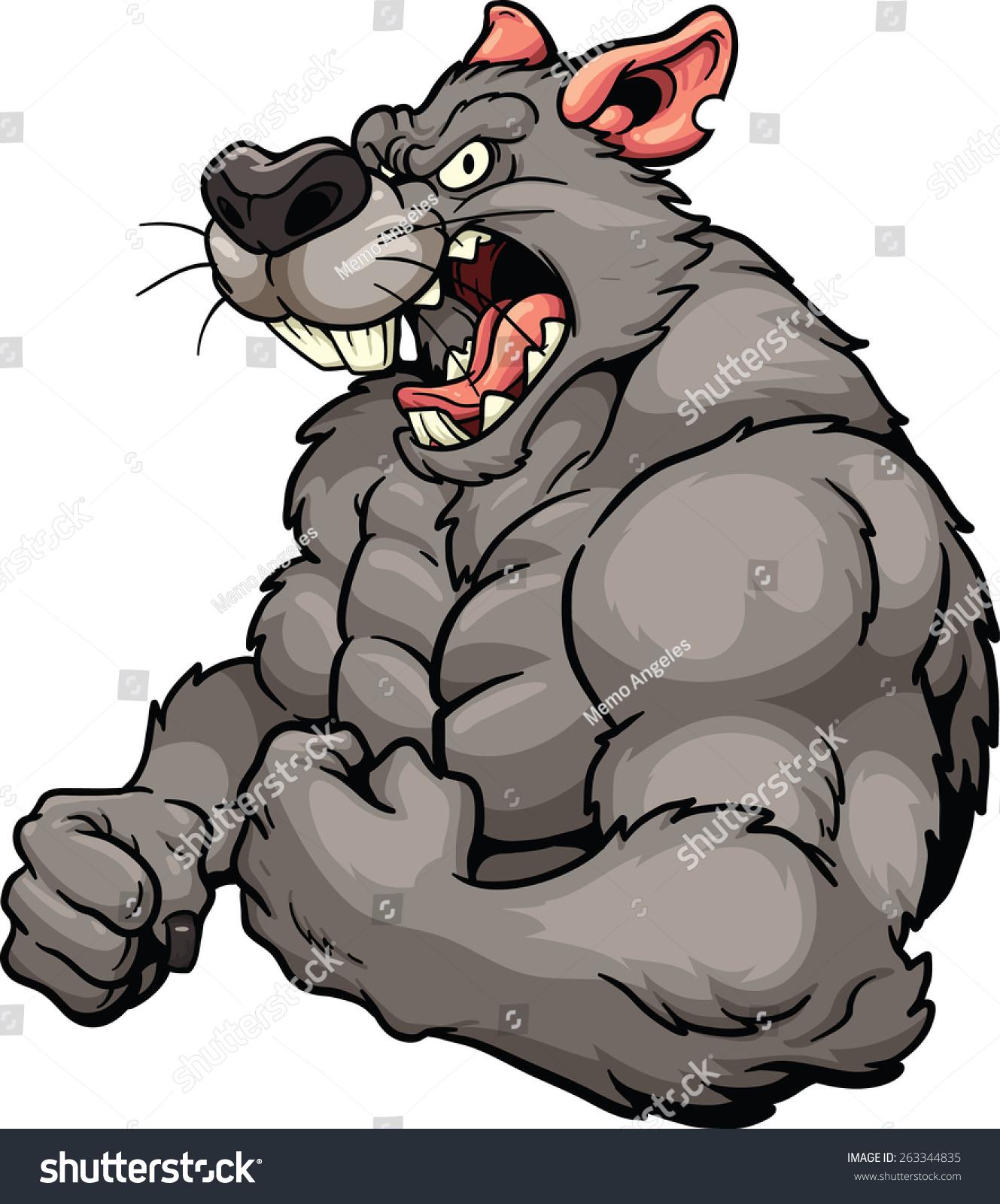 Angry Rat Mascot Vector Clip Art Stock Vector 263344835 - Shutterstock