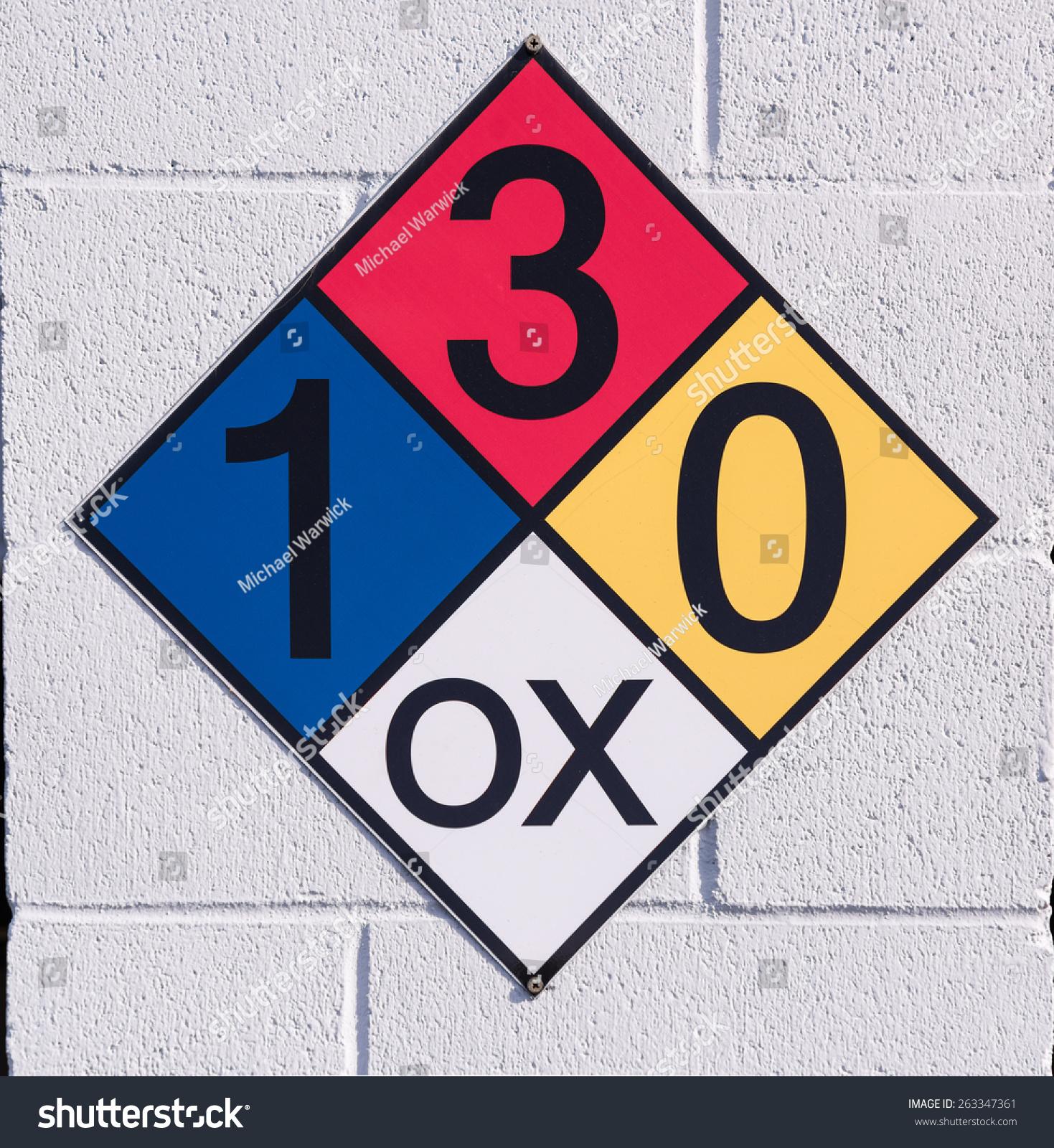 Hazardous Material Diamond: Hazardous Materials Placard Stock Photo 263347361