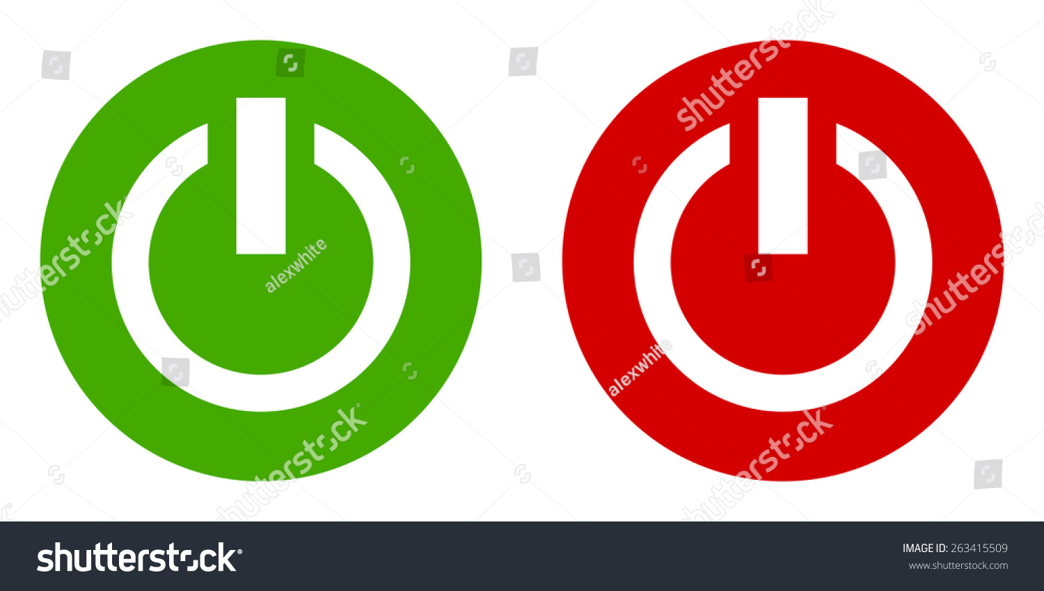 Power On Off Vector Icon Set Stock Vector 263415509 Shutterstock