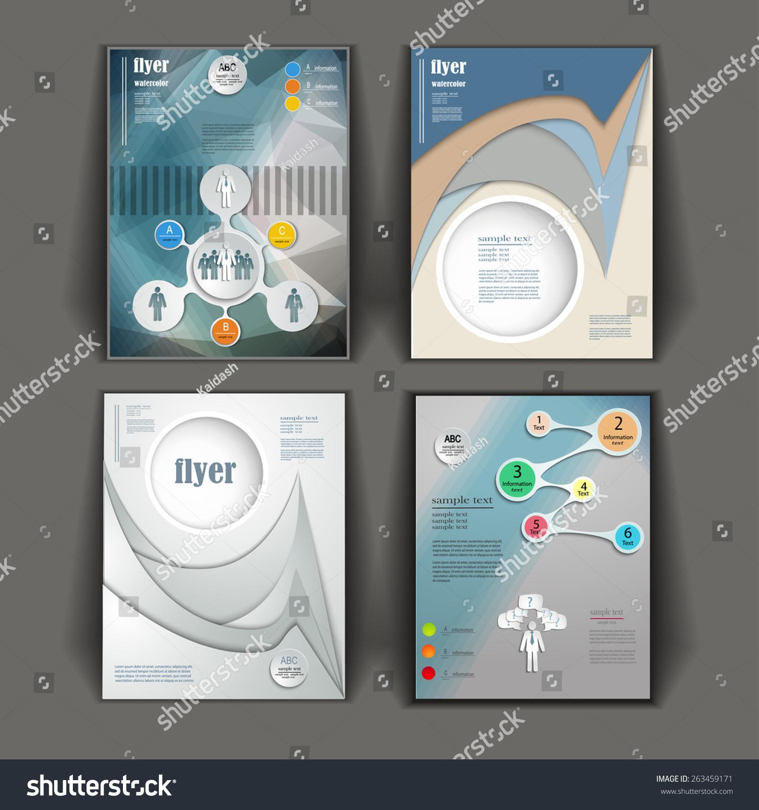 Creative Infographic Presentation Templates Business Brochures Stock ...
