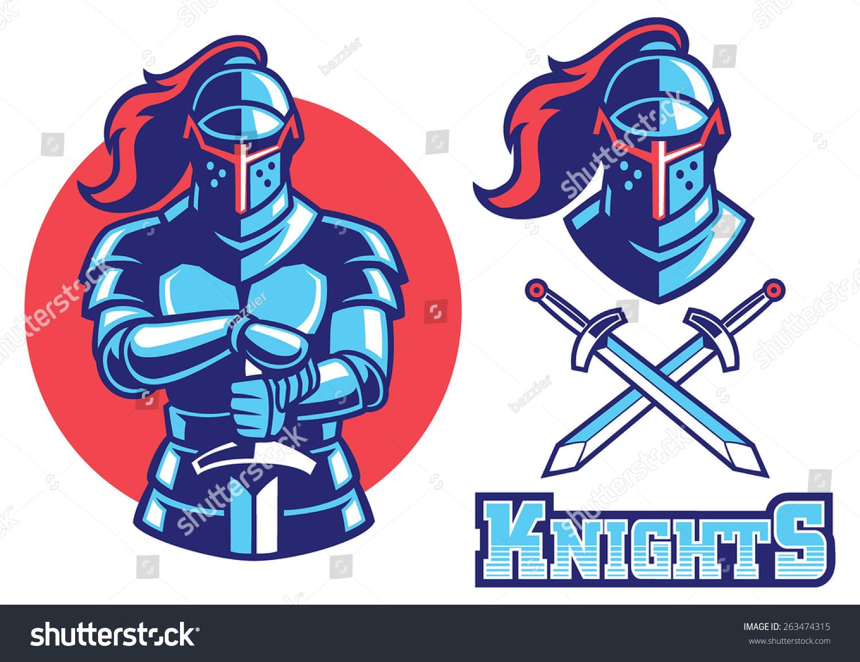 knight armor mascot stock vector 263474315 shutterstock minnesota viking helmet clipart mn vikings helmet clipart