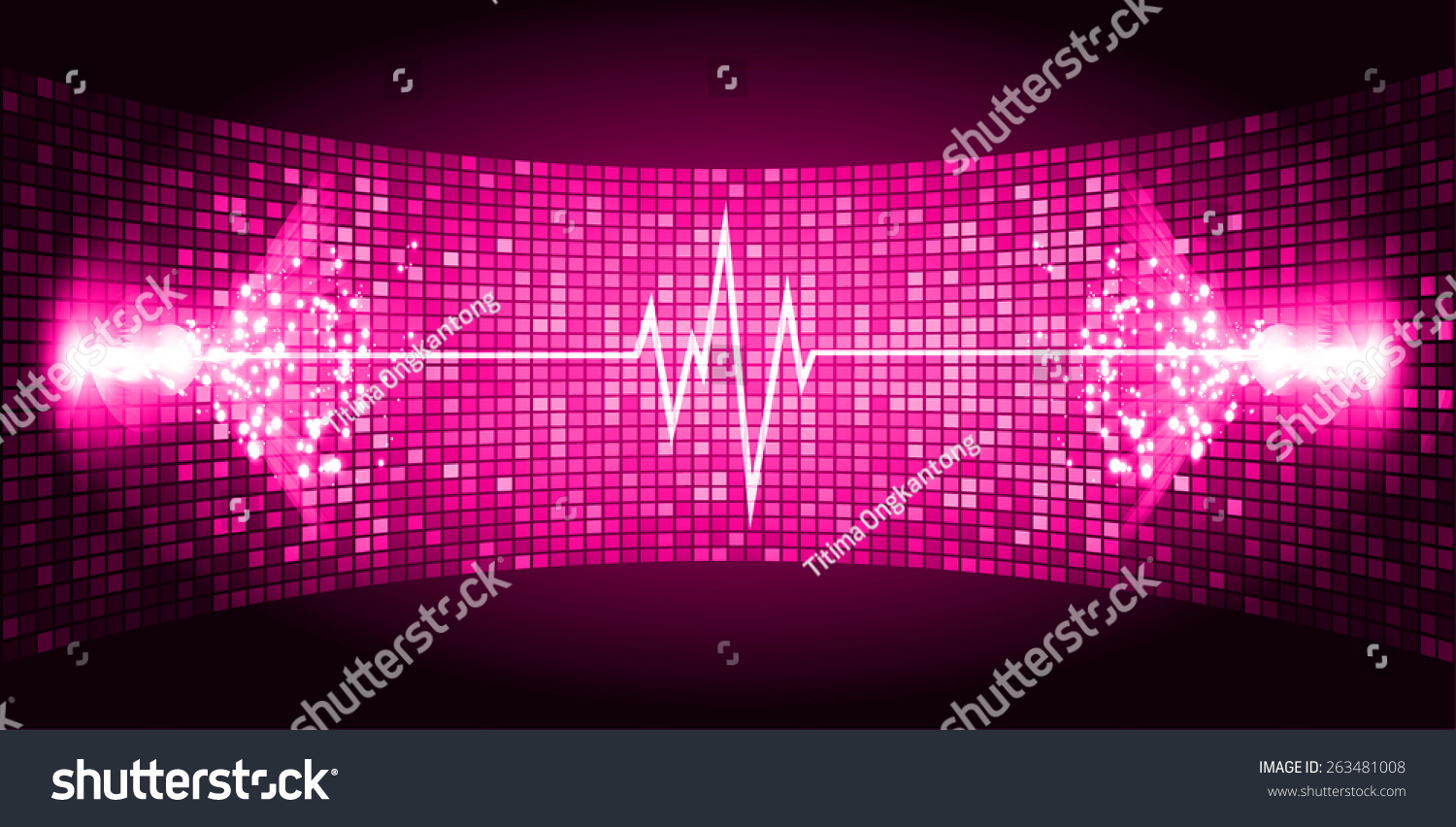 Dark Pink Sound Wave Background Suitable As A Backdrop For ...