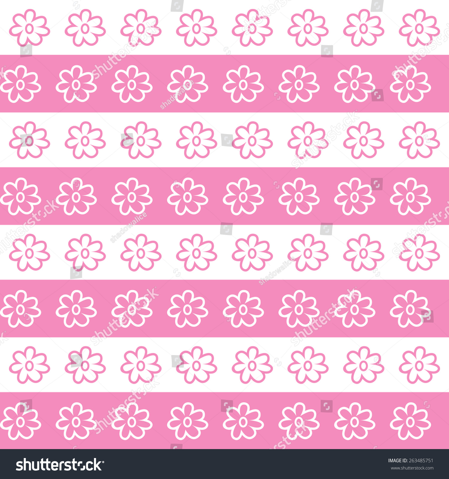 Pink White Flower Wallpaper Great Any Stock Vector 263485751