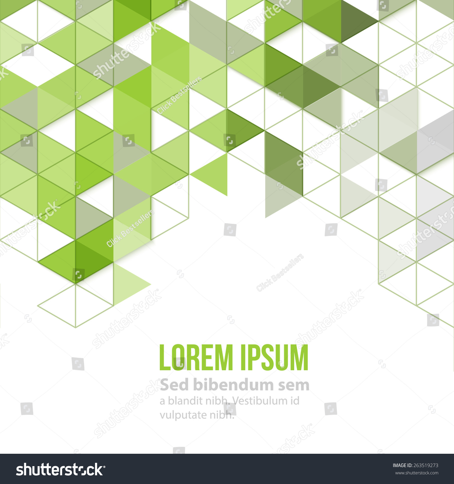 Abstract Geometric Background Green Polygonal Triangles