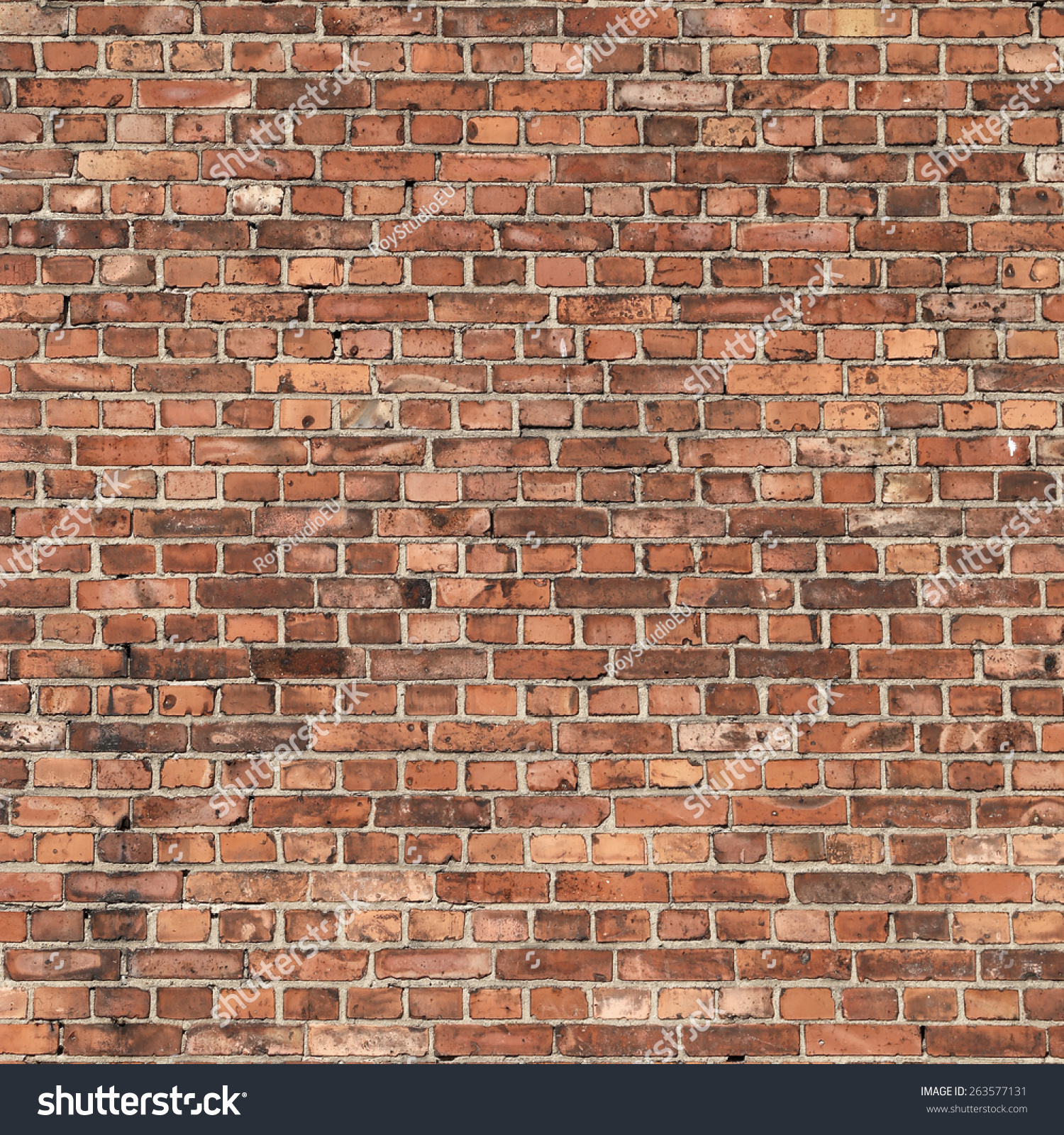 Old Brick Wall Decor : Red brick wall texture old grunge stock photo