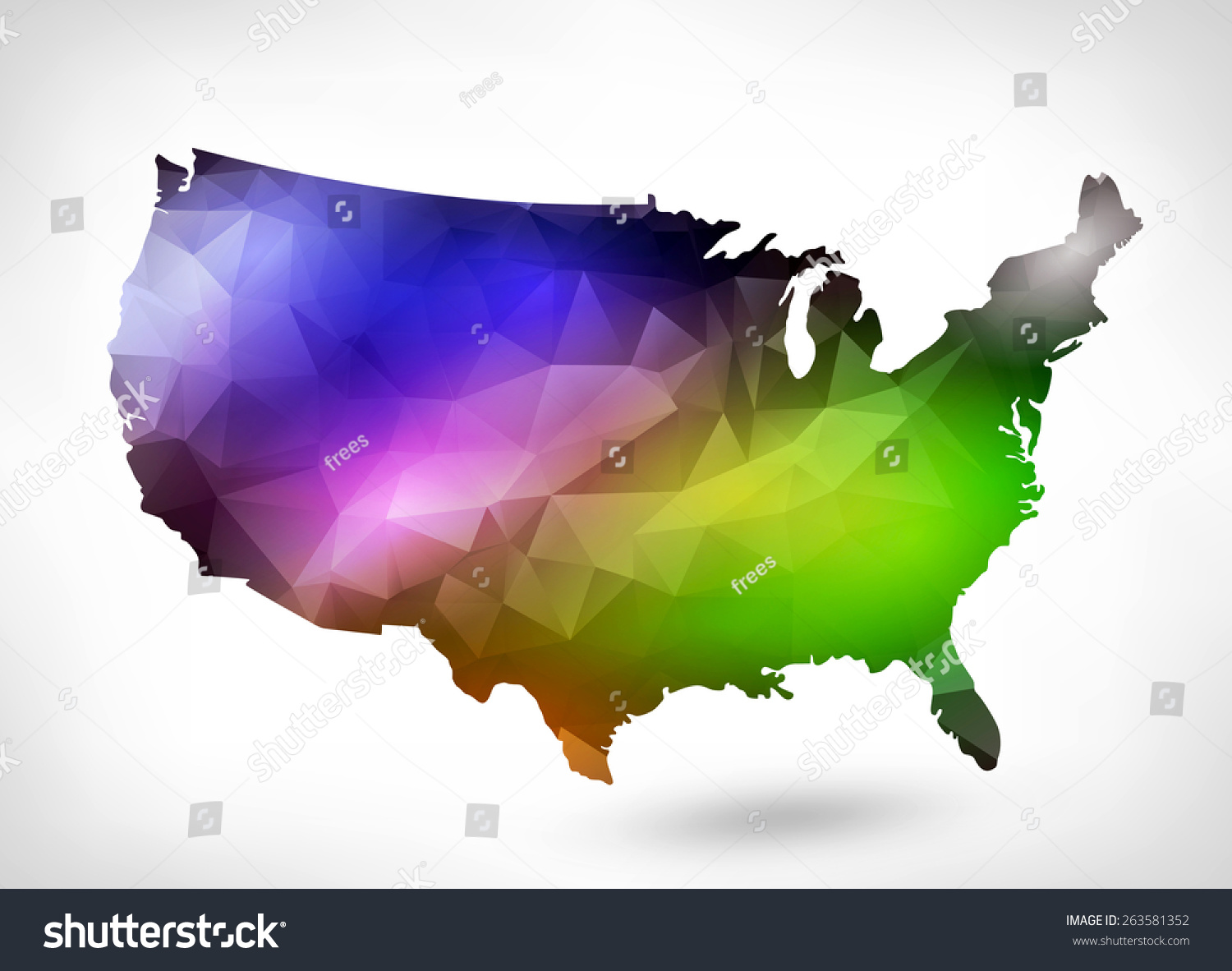 Rainbow color map usa geometric triangle stock illustration rainbow color map usa geometric triangle stock illustration 263581352 shutterstock gumiabroncs Image collections
