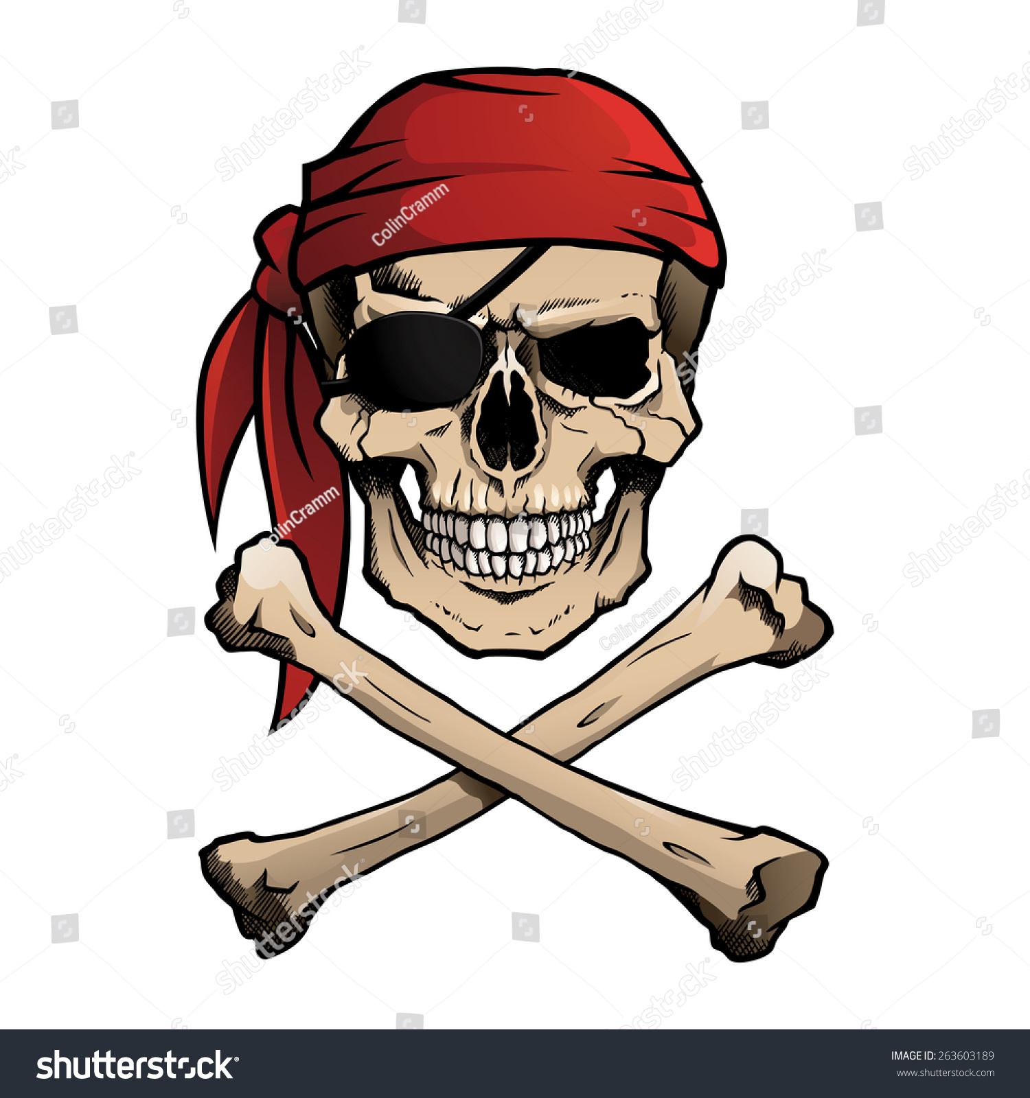 Image result for skull and crossbones with bandanas