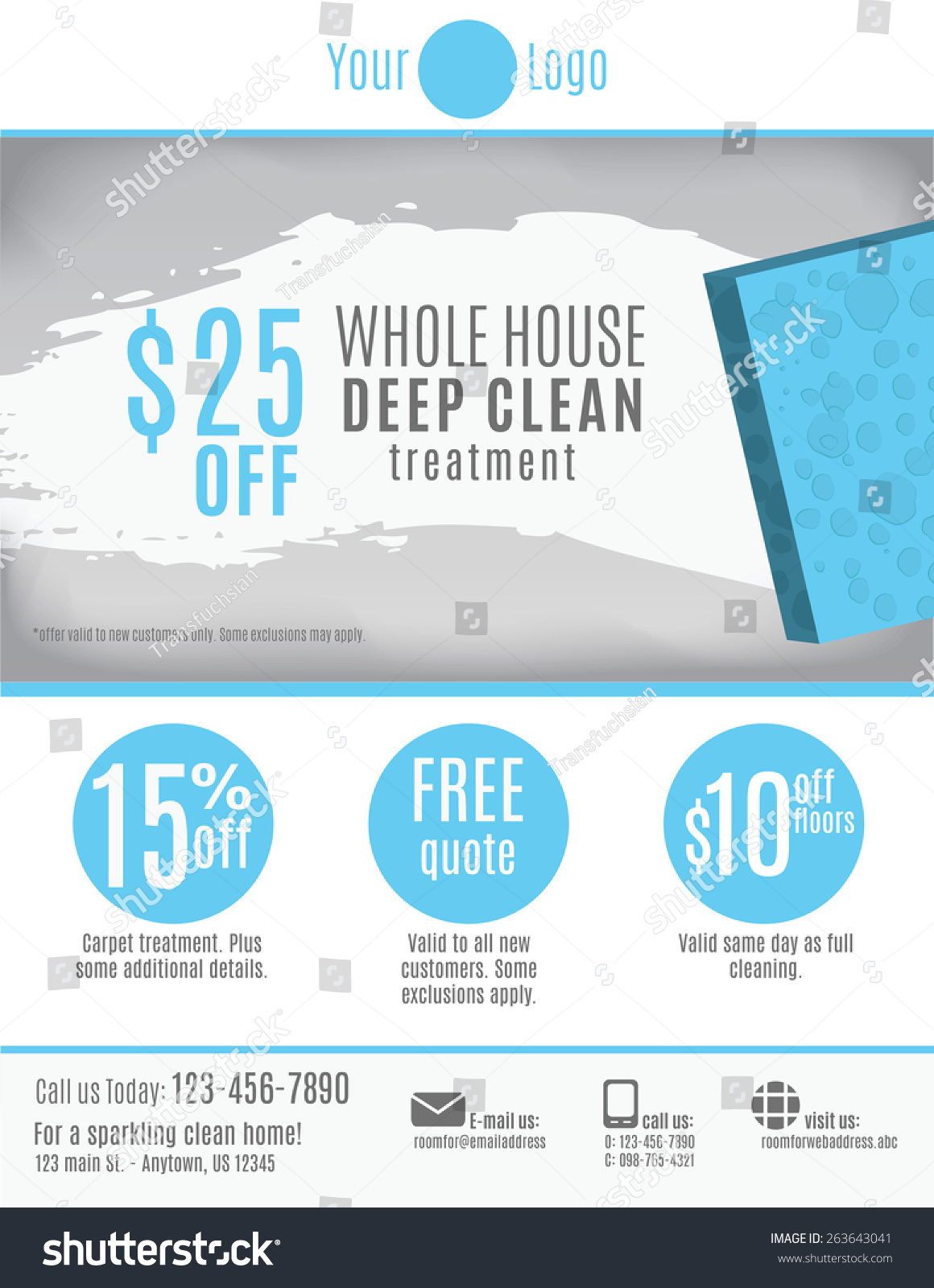 cleaning service flyer template discount coupons stock vector cleaning service flyer template discount coupons and advertisement