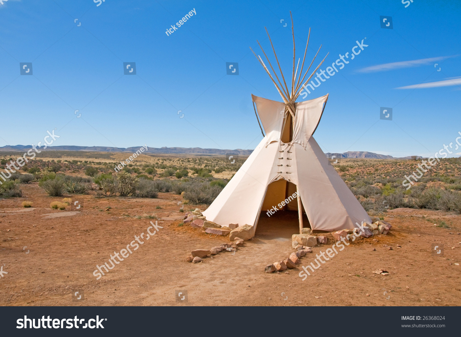 Native american indian tee pees