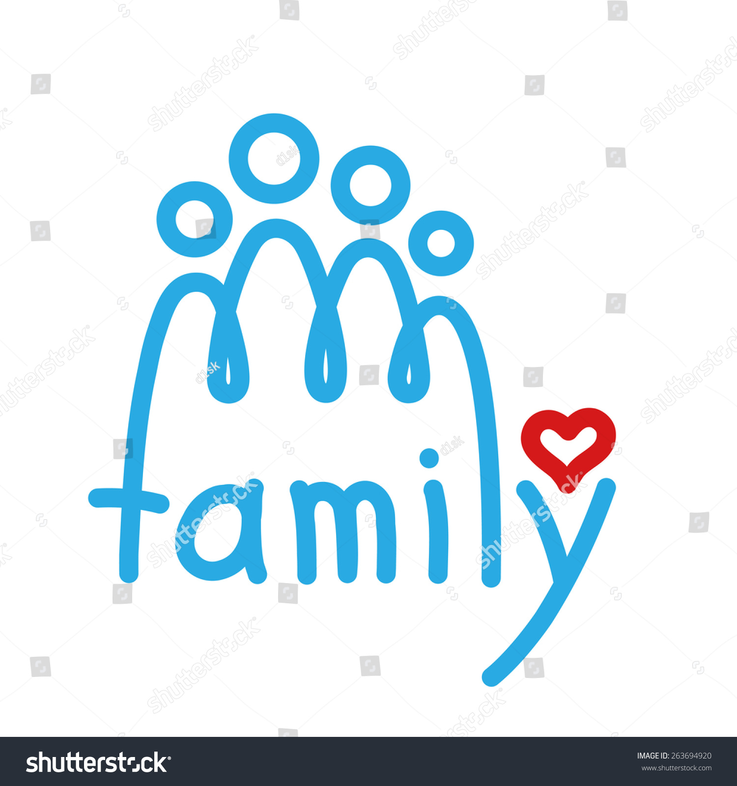 happy family logo on white background stock vector royalty free