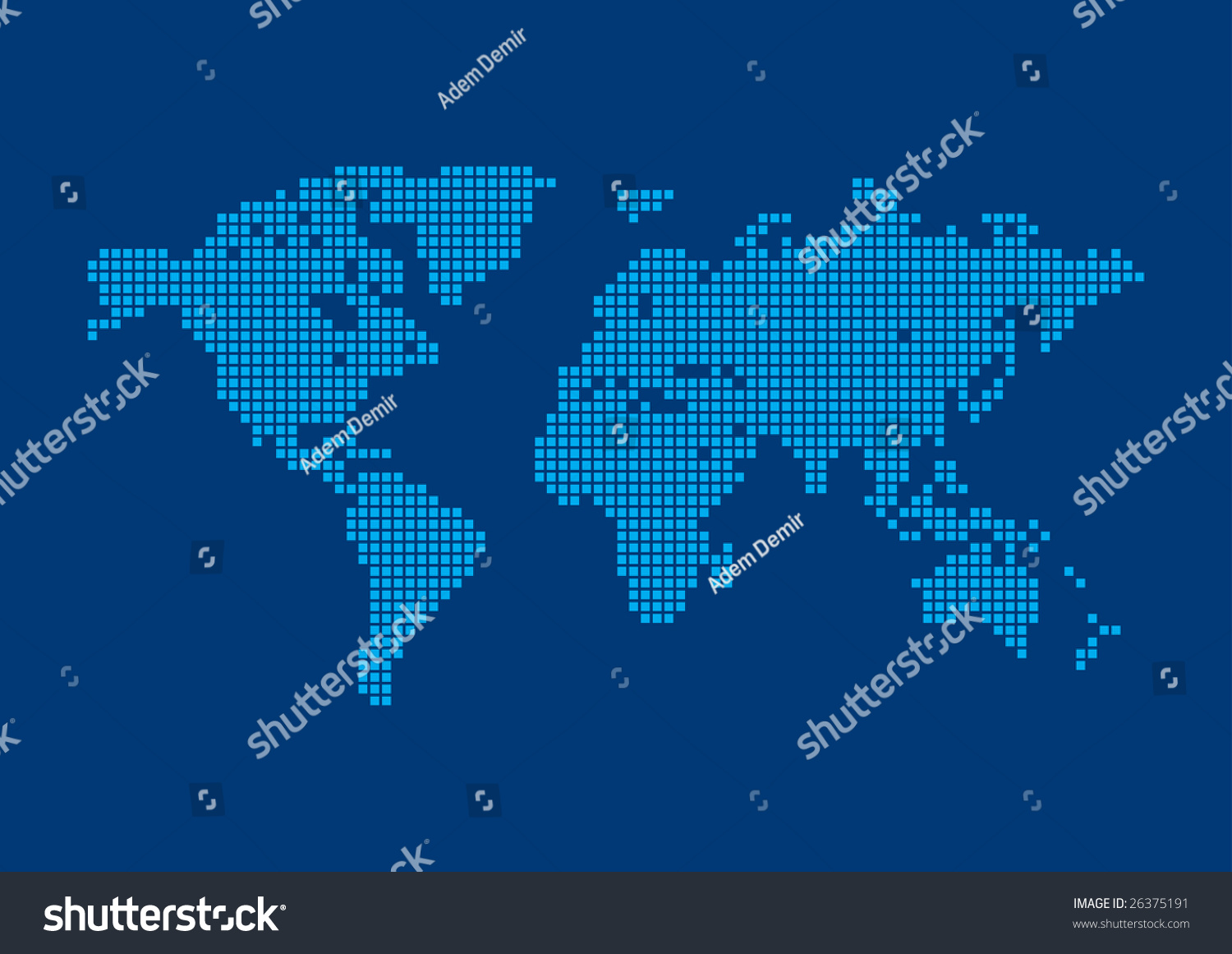 Square pixel world map background world vector de stock26375191 square pixel world map background world background series gumiabroncs Image collections