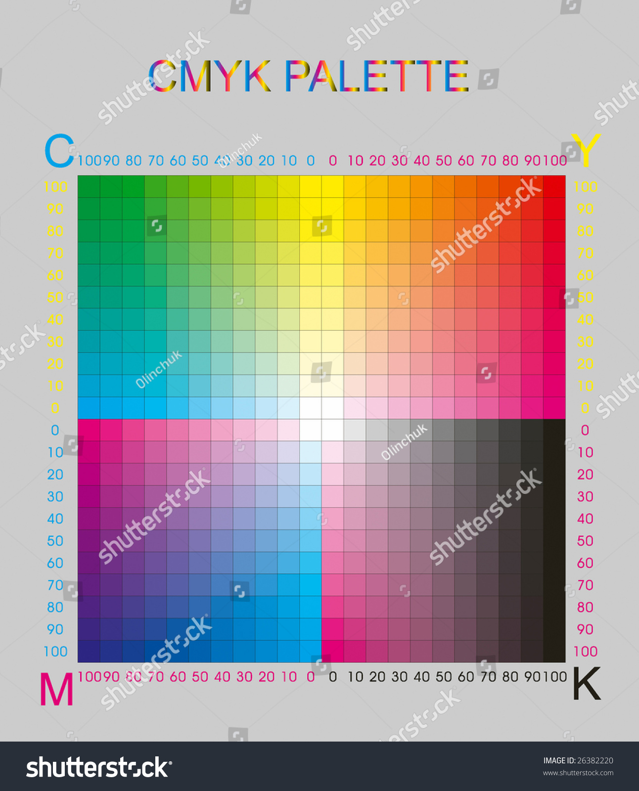 What is CMYK CMYK color palette 17
