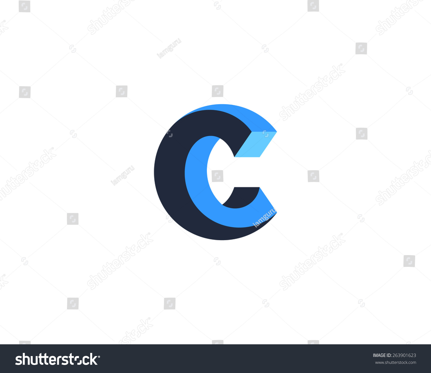 abstract letter c logo design template stock vector 263901623 shutterstock. Black Bedroom Furniture Sets. Home Design Ideas