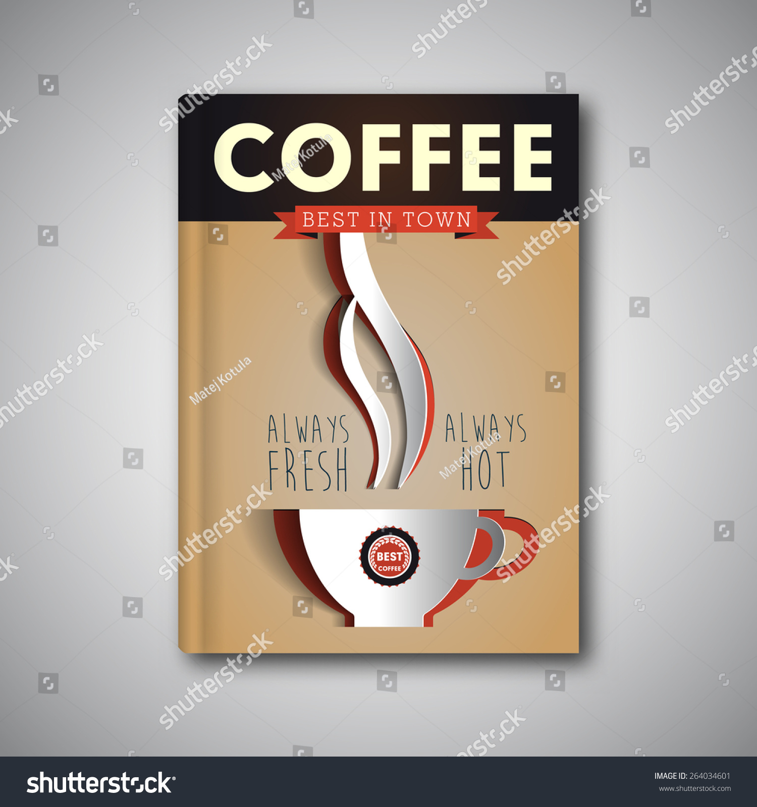 Vector Brochure Flyer Magazine Folder T Shirt Cover: Coffee Flyer Template, Vector Brochure, Magazine Cover
