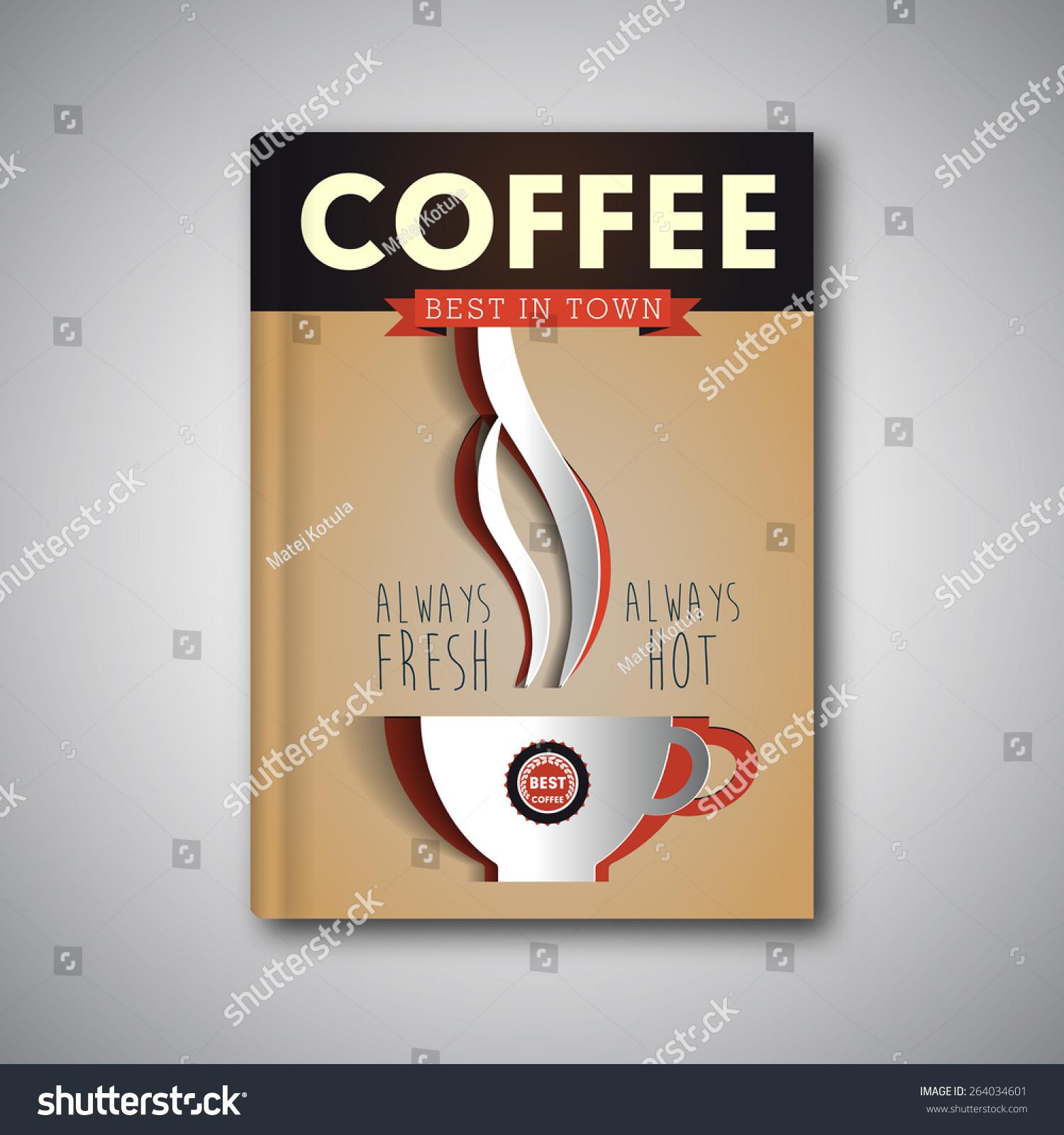 Coffee Shop Brochure Template Stock Vector Coffee Flyer Template Vector  Brochure Magazine Cover 264034601 Coffee Shop