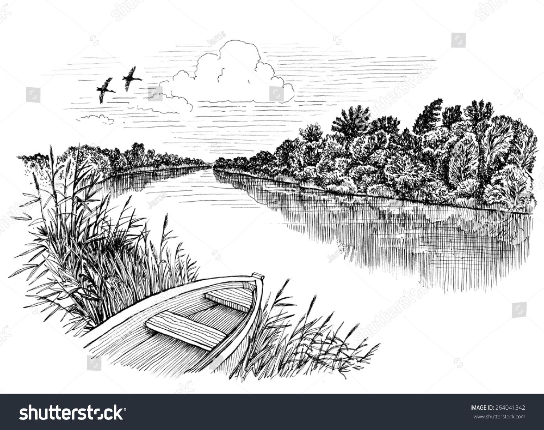 River Clipart Black An...