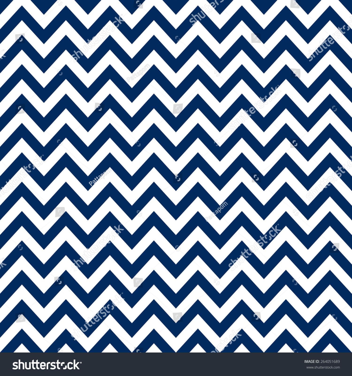 Navy Blue White Chevron Pattern Seamless 264051689