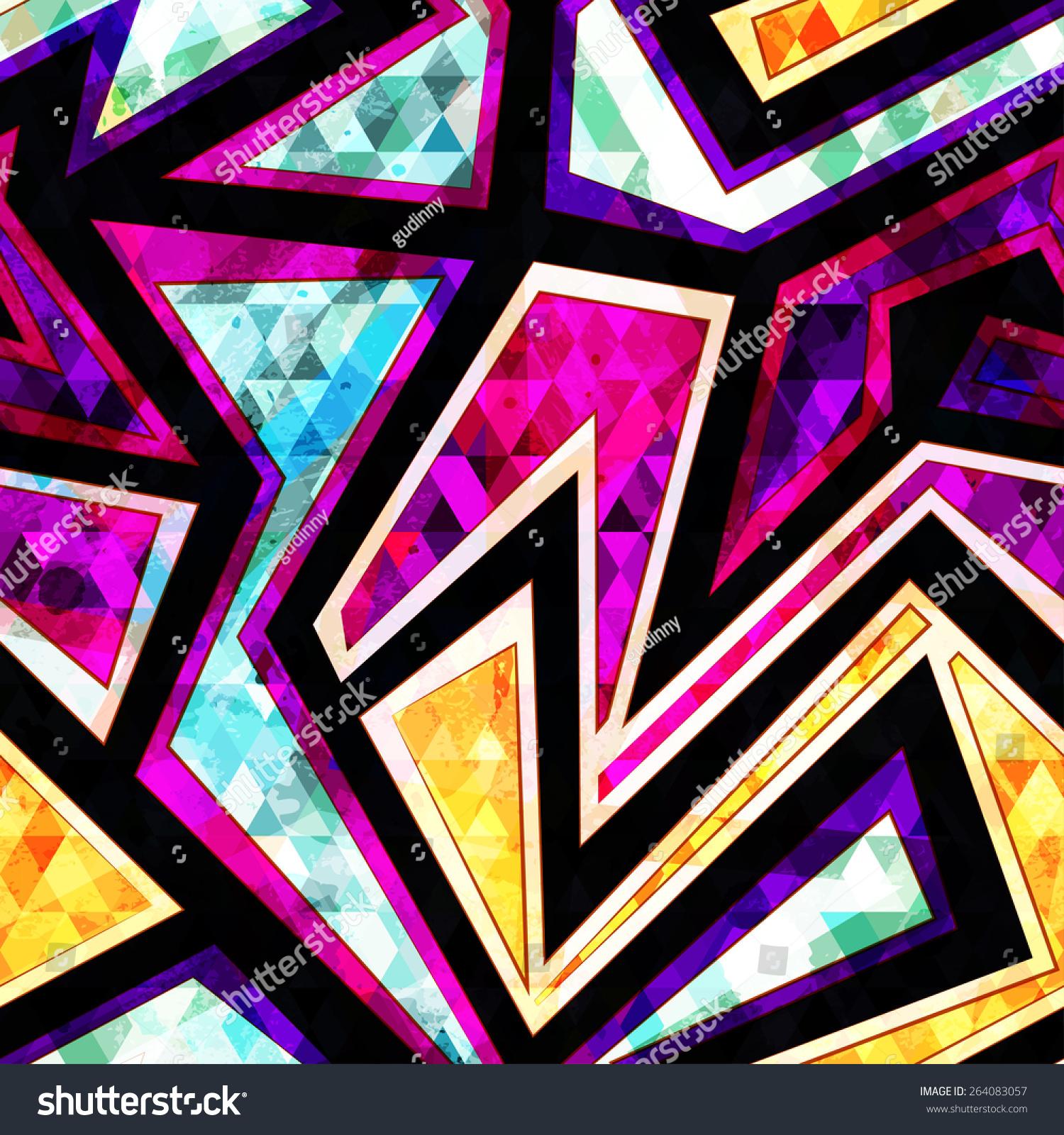 diamond geometric seamless pattern stock vector
