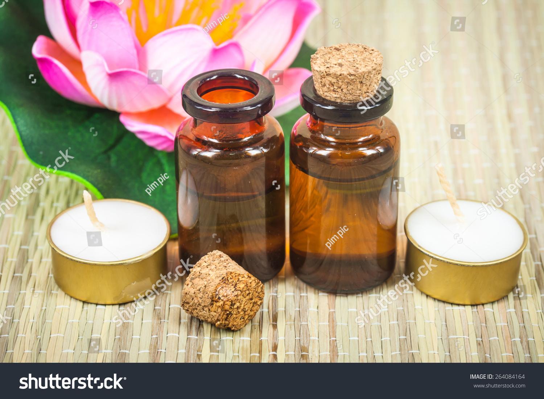 Bottle Aroma Essential Oil Lotus Flower Stock Photo Edit Now