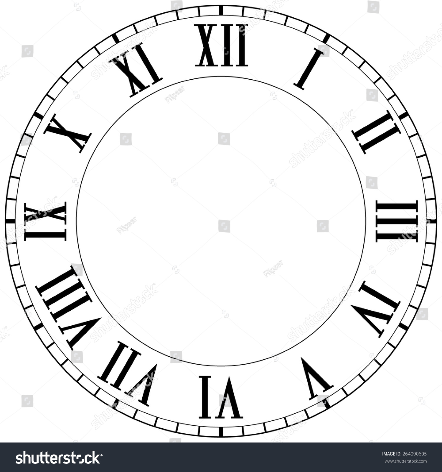 Worksheet Roman Numero vintage roman numeral clock vector illustration stock isolated on white background