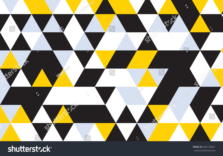 Triangle Design Pattern Background Black Geometric