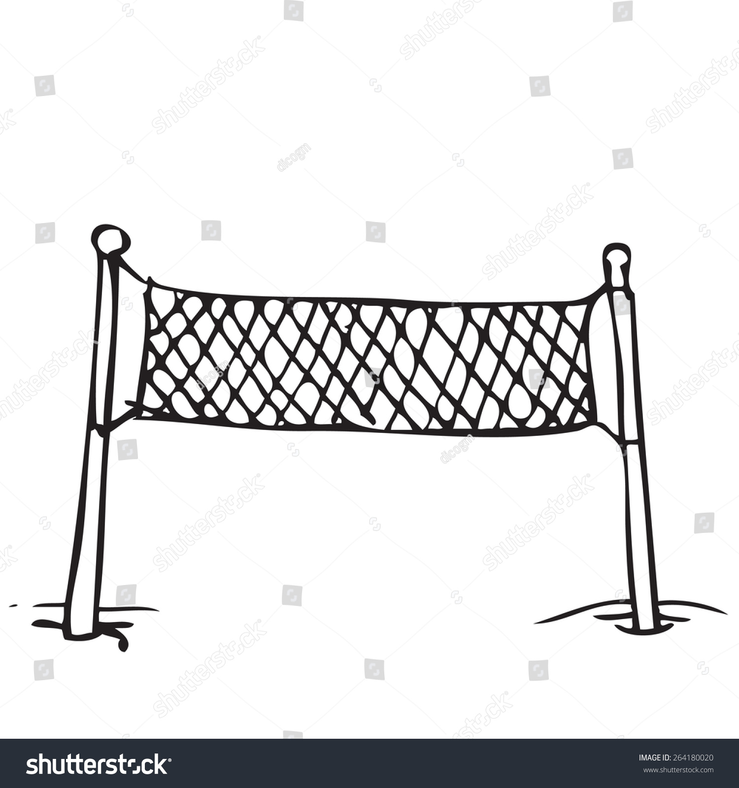 Drawing Lines With Vb Net : Clip art volleyball net poles cliparts