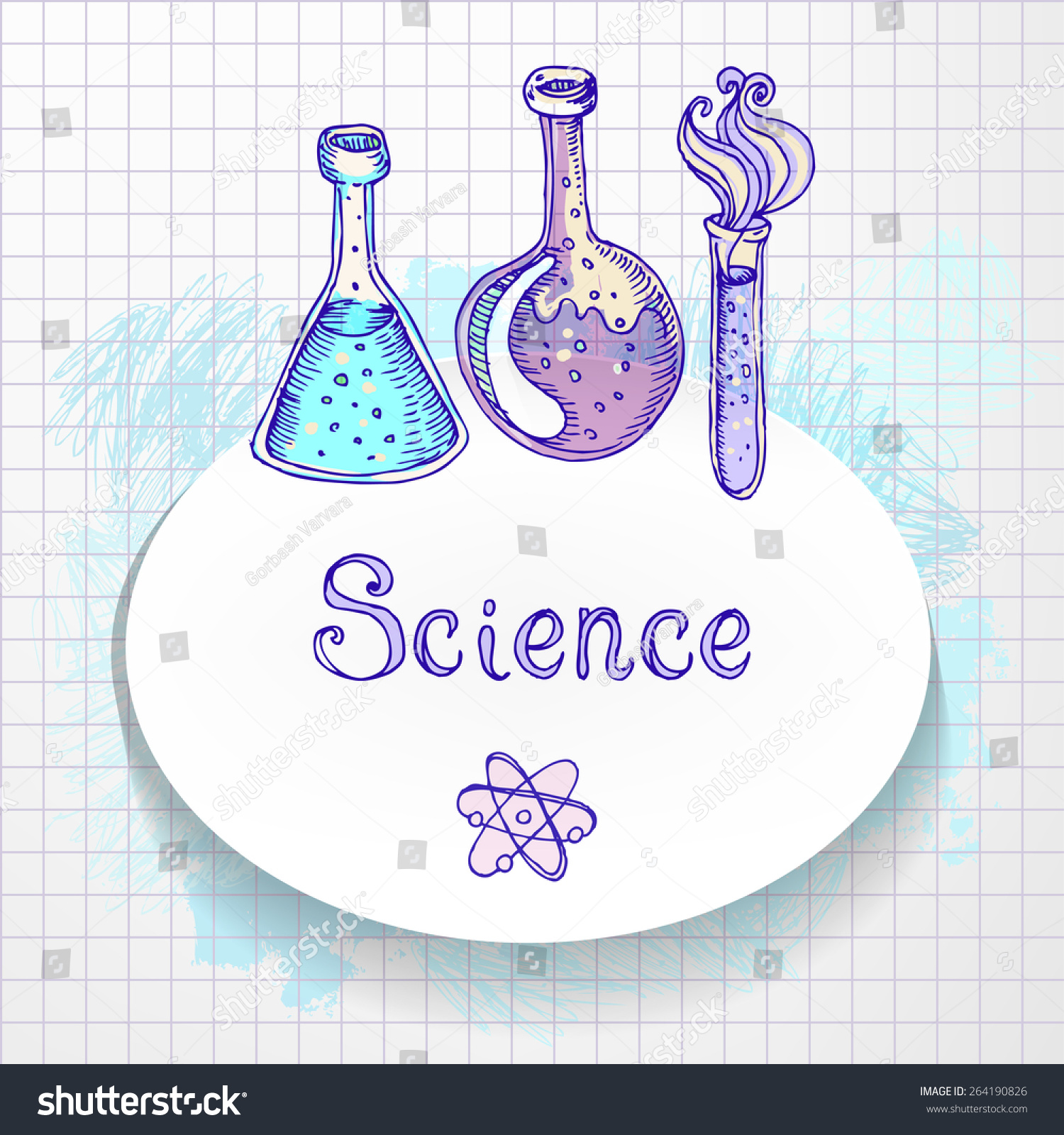 Back School Doodle Style Science Laboratory Stock Vector 264190826 ...