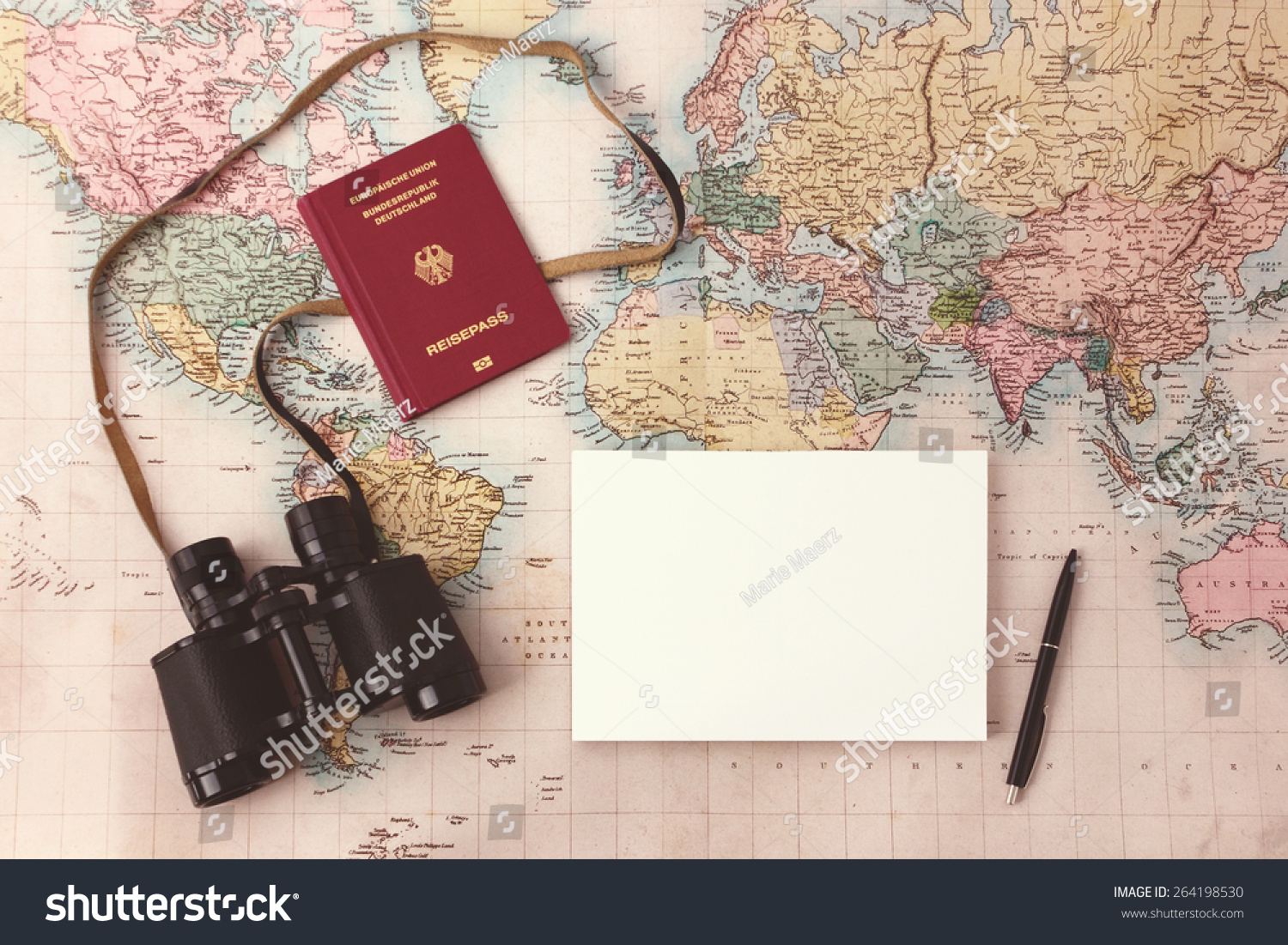 Travel Planning Map Passport Notepad Pen Photo 264198530 – Travel Planning Map