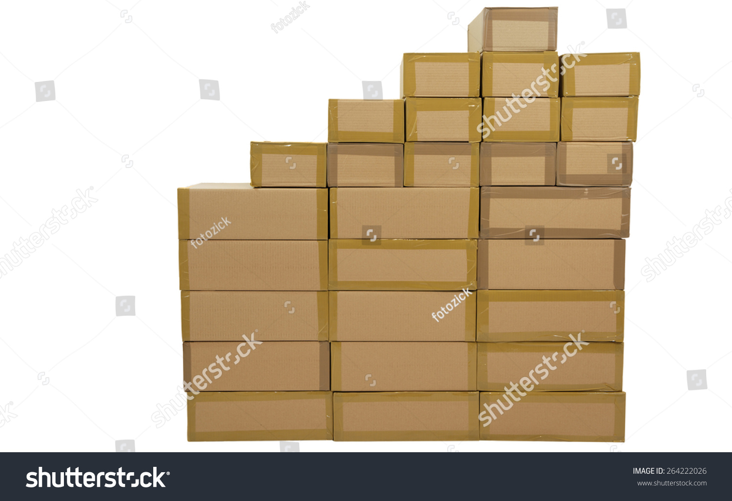 un coated stacked boxes brown on stock photo edit now 264222026
