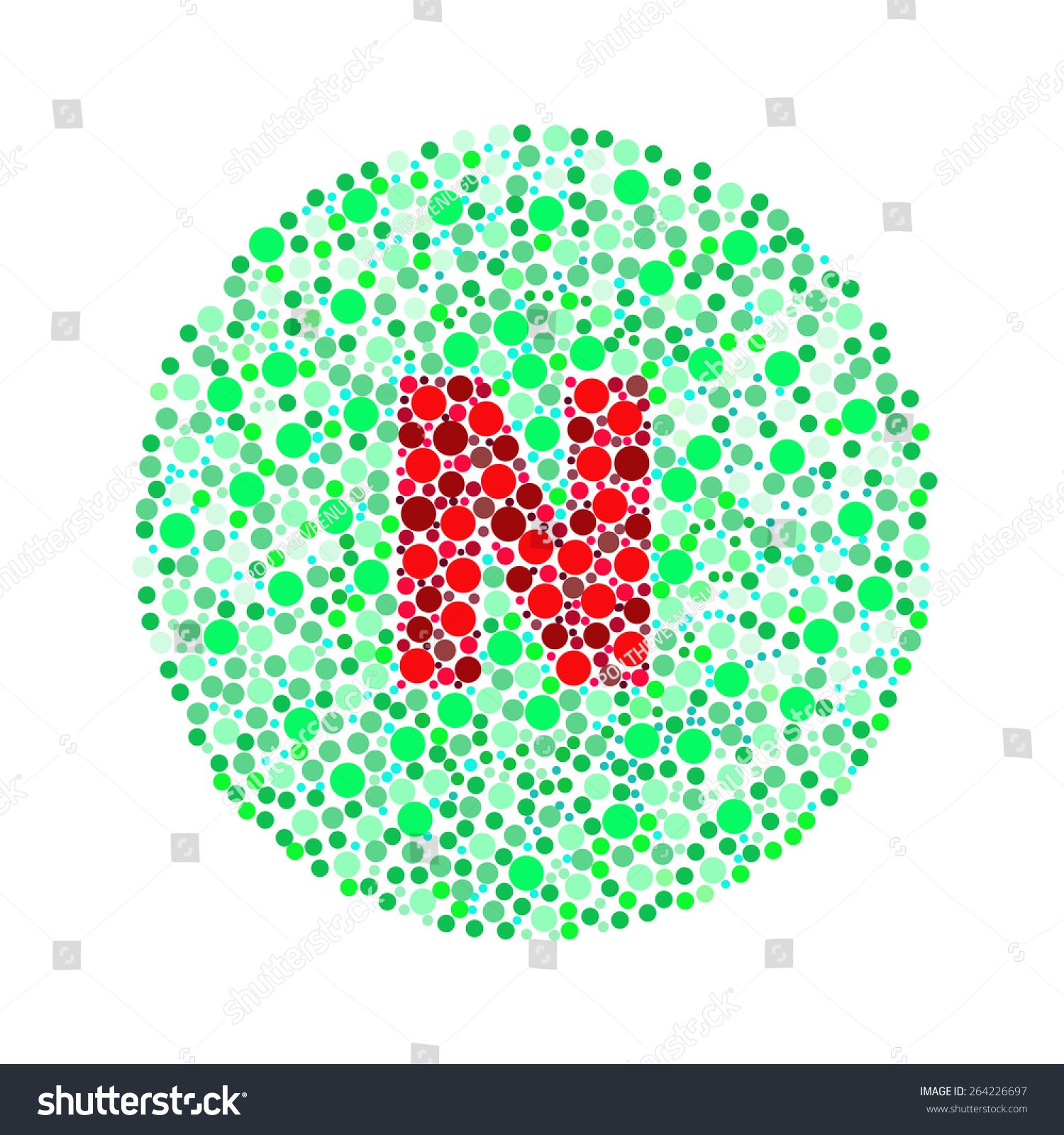 Ishihara Test Daltonismcolor Blindness Disease Perception Stock ...
