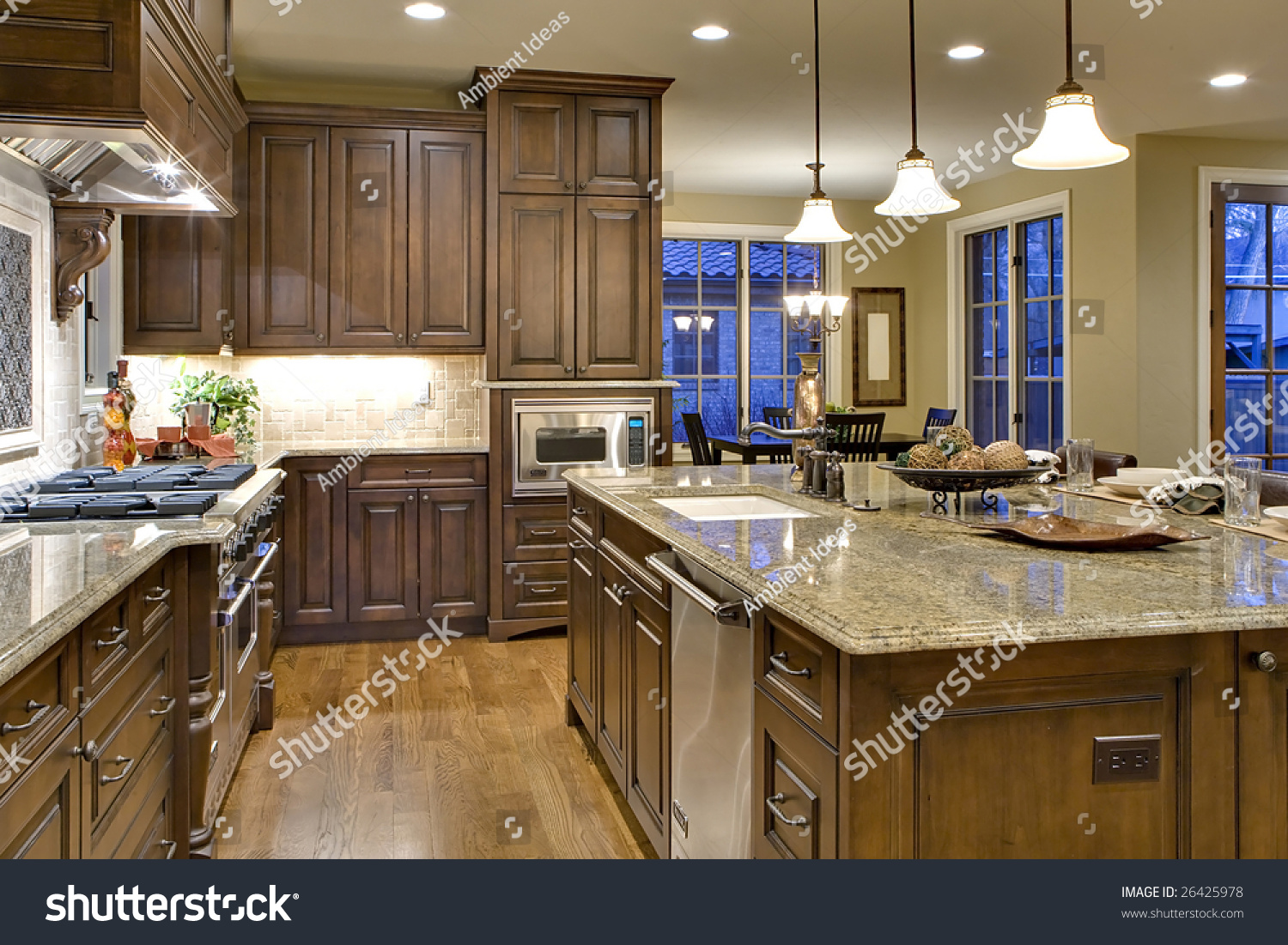 Kitchen from butler 39 s pantry perspective shows cooking for Show kitchen islands
