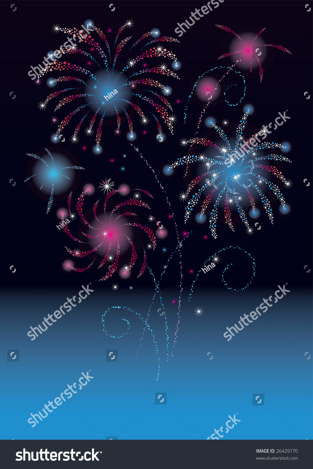 Firework display on fourth july new stock illustration 26429770 firework display on fourth july new stock illustration 26429770 shutterstock m4hsunfo