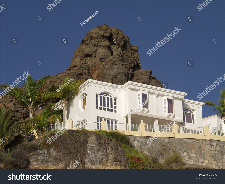 Villa puerto rico gran canaria stock photo 264370 for Villas en gran canaria