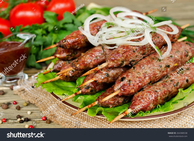 Куриный люля-кебаб на мангале рецепт