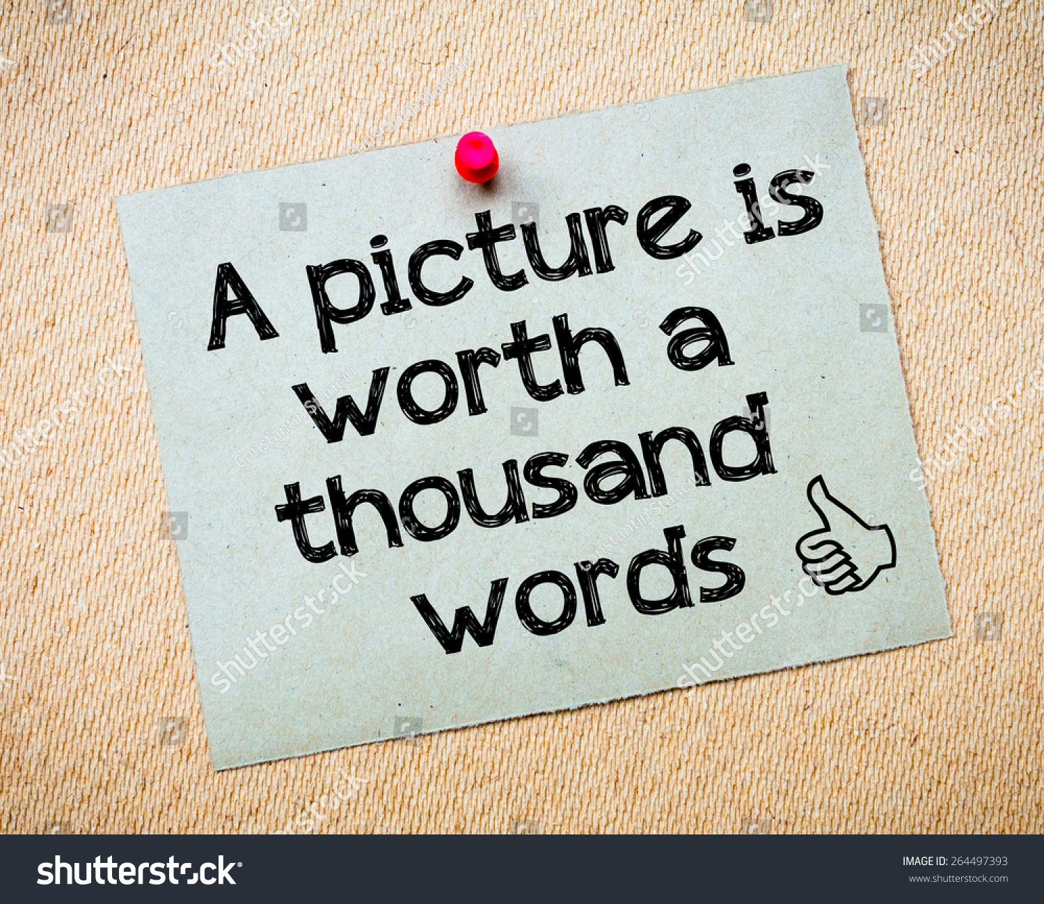 picture worth thousand words message recycled stock photo