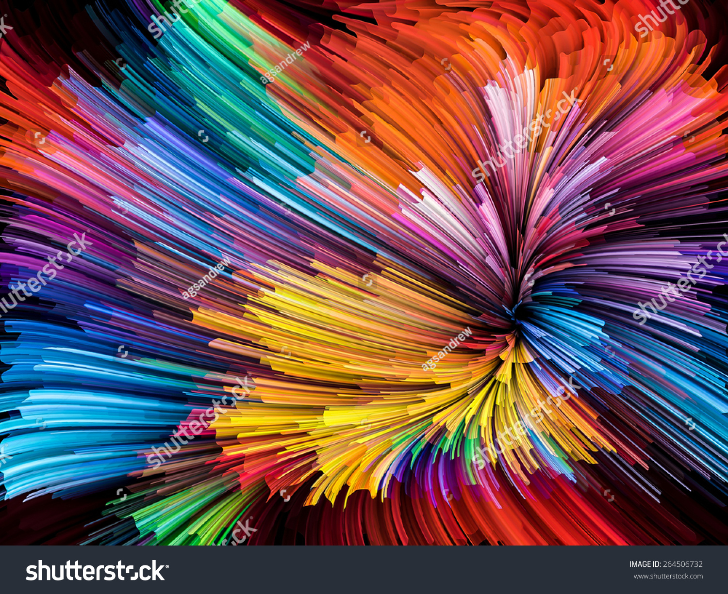 Color and art - Dynamic Color Series Arrangement Of Streams Of Paint On The Subject Of Forces Of Nature