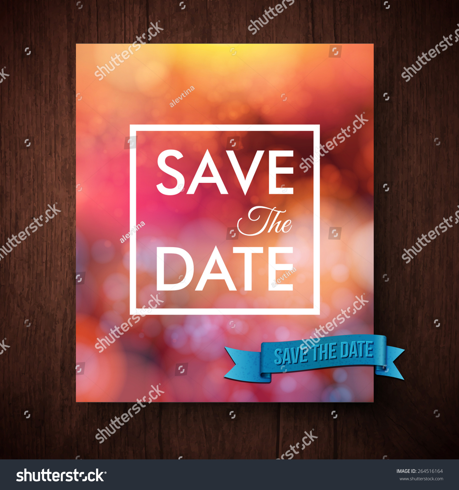 Eyecatching Bold Simple Save Date Template Stock Vector (Royalty ...