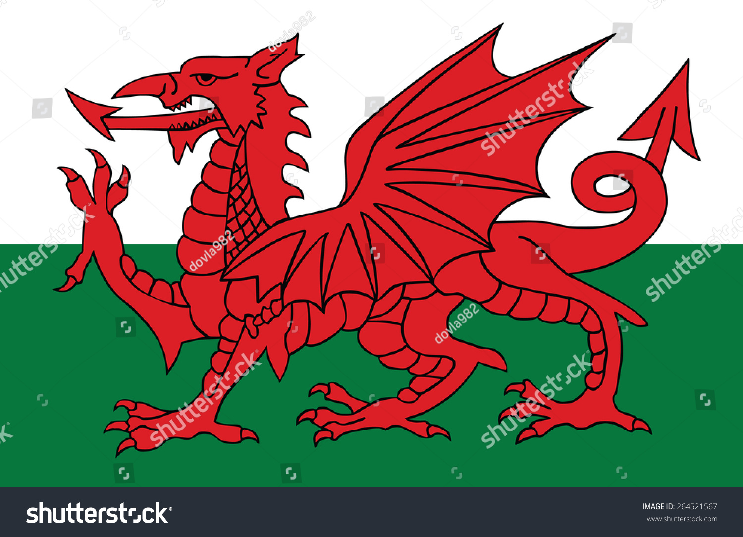 Wales coat arms seal national emblem stock vector 264521567 wales coat of arms seal national emblem isolated on white background vector buycottarizona