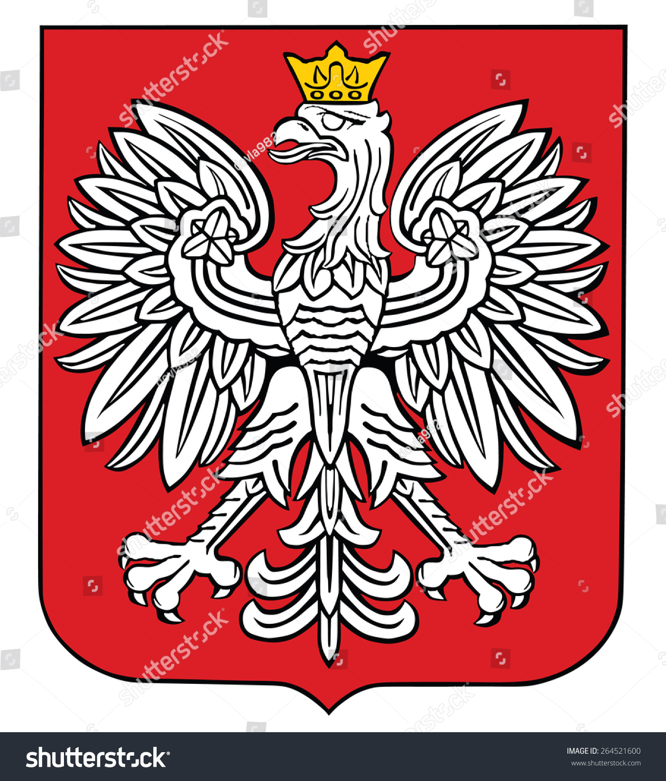 Poland coat arms seal national emblem stock vector 264521600 poland coat of arms seal national emblem isolated on white background vector biocorpaavc