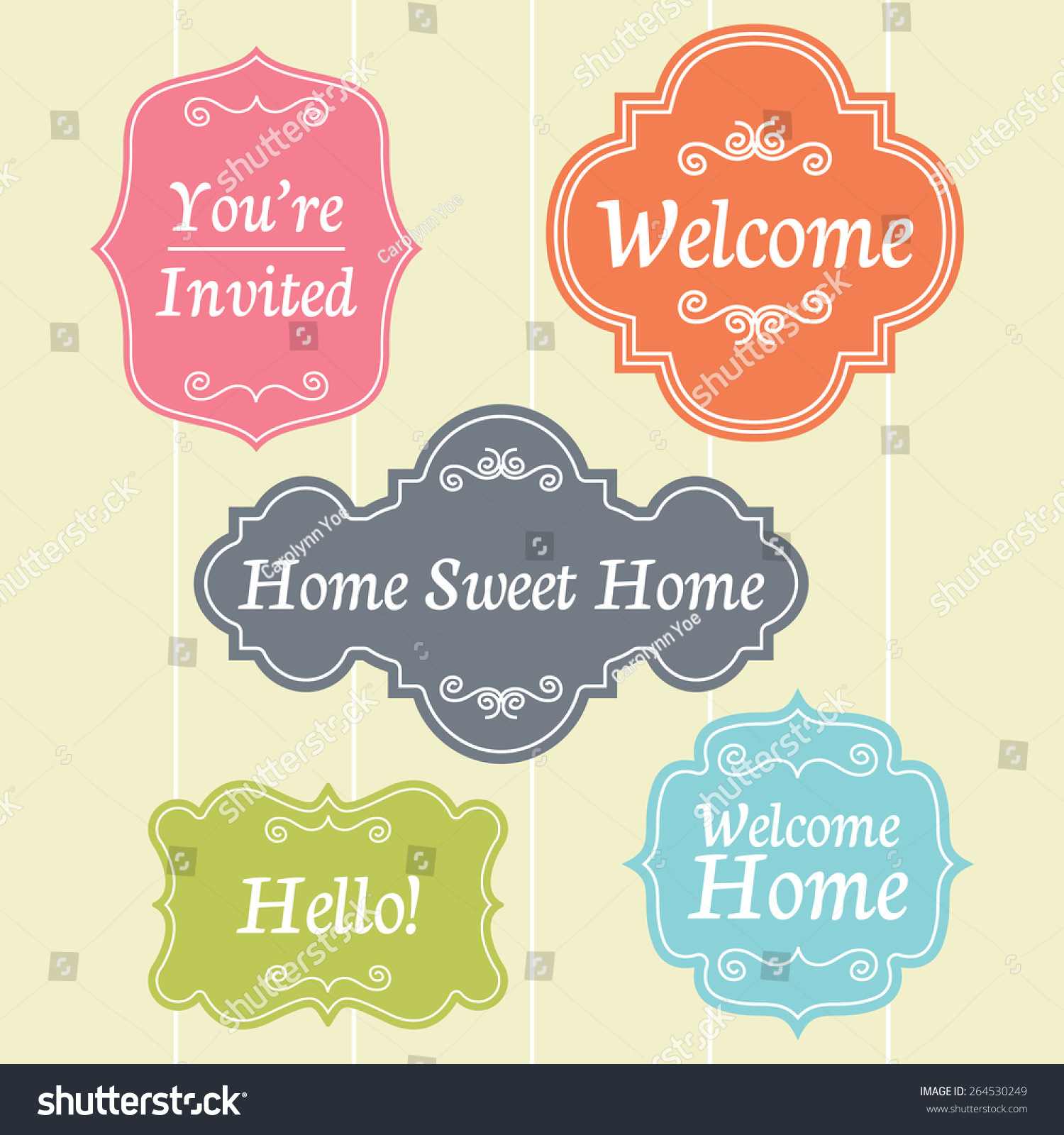 welcome house home board sign template stock vector