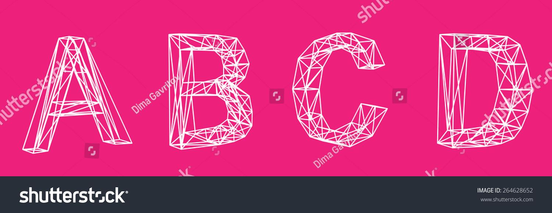 Lowpoly 3 D Font On Color Background Stock Illustration 264628652 ...