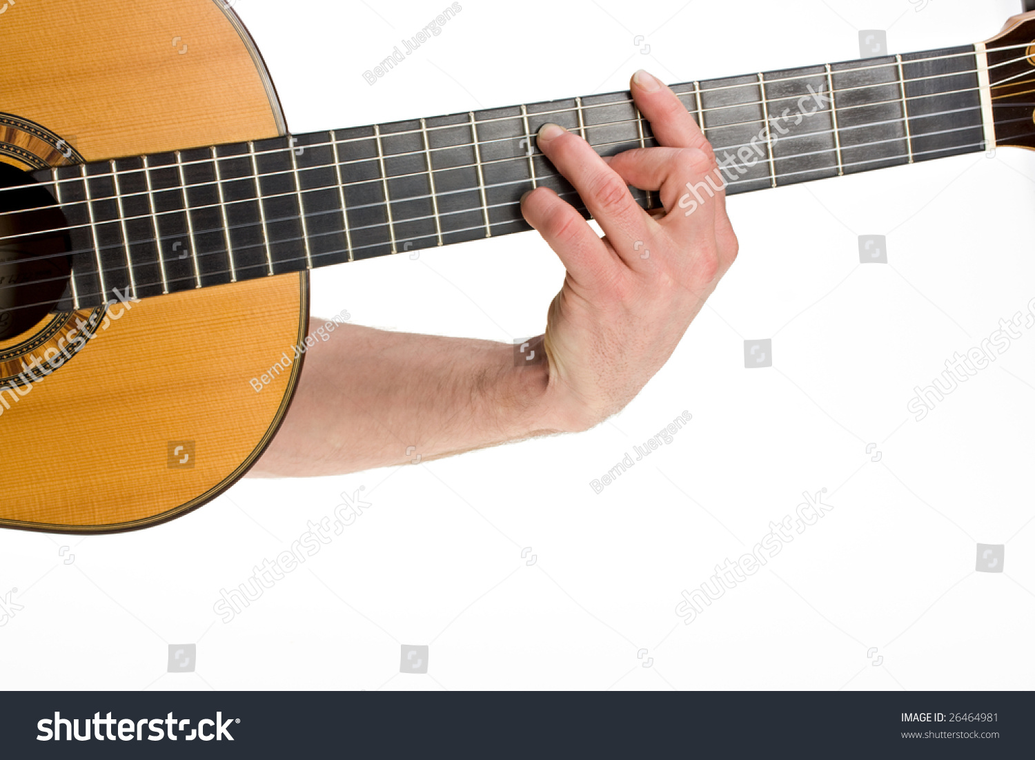 Male Hand Holding Chord On Classsical Stock Photo 26464981