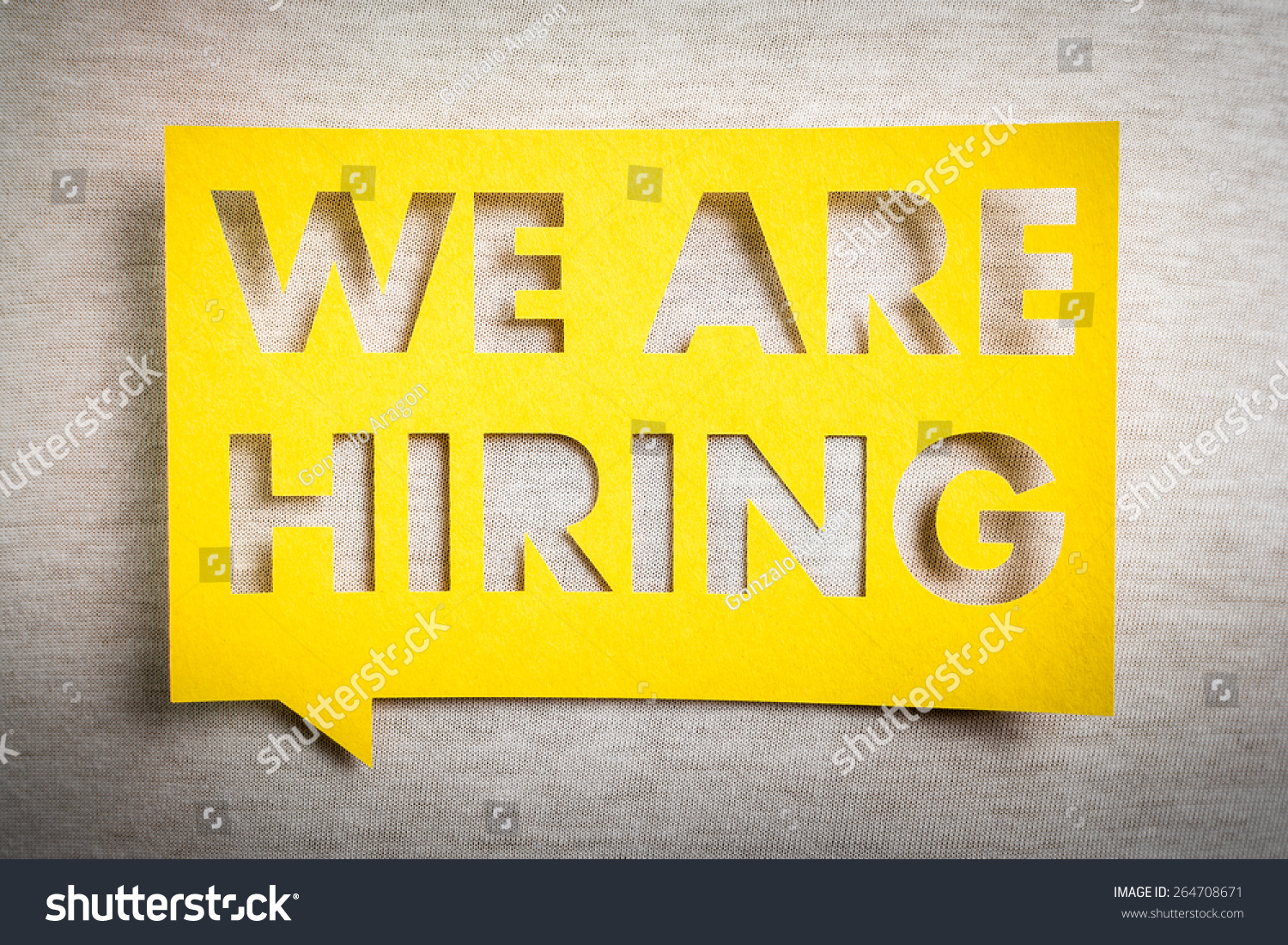 we hiring yellow banner on white stock photo shutterstock we are hiring yellow banner on white texture background job board design