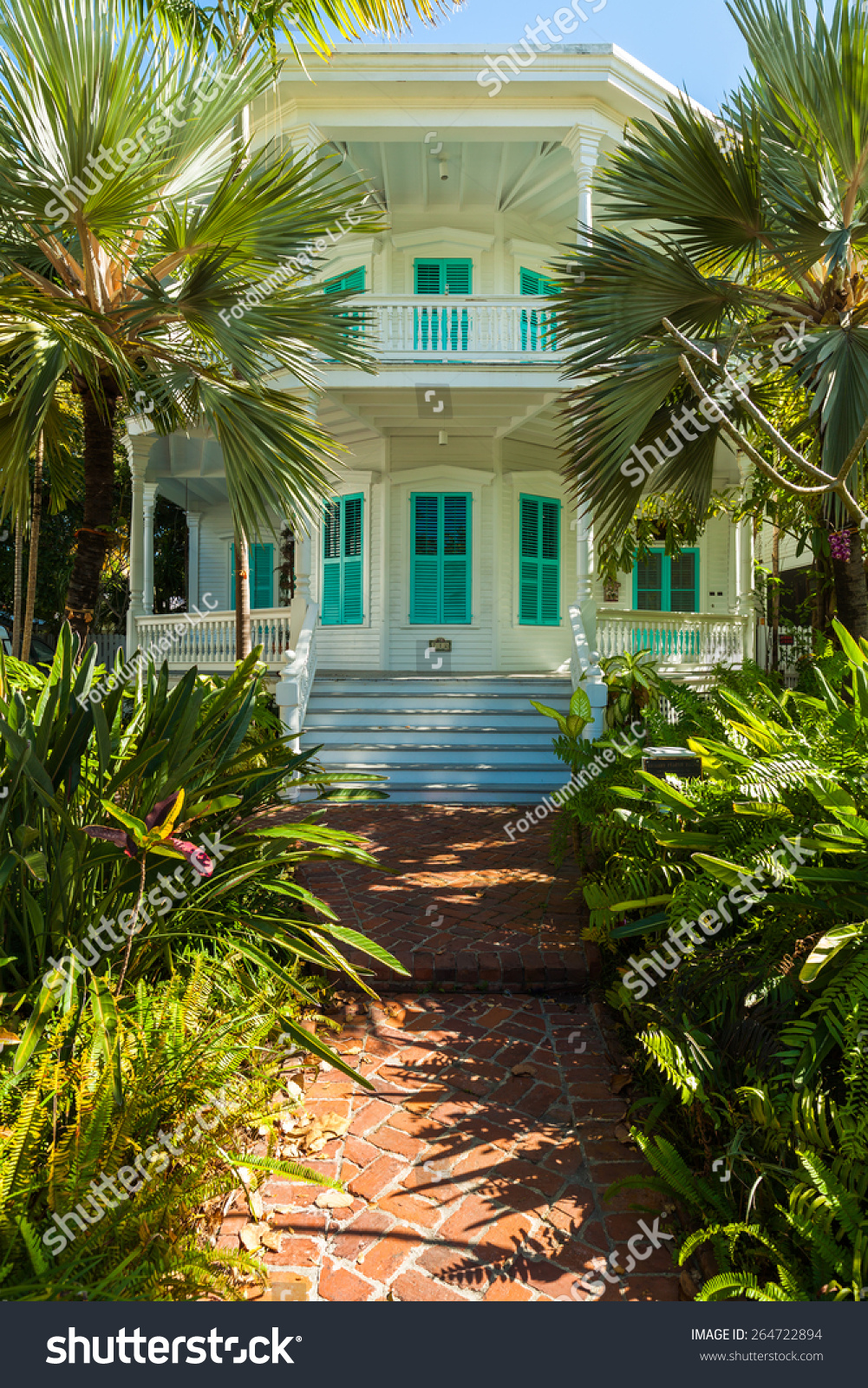 Key west florida usa march 3 stock photo 264722894 for Wood frame house in florida