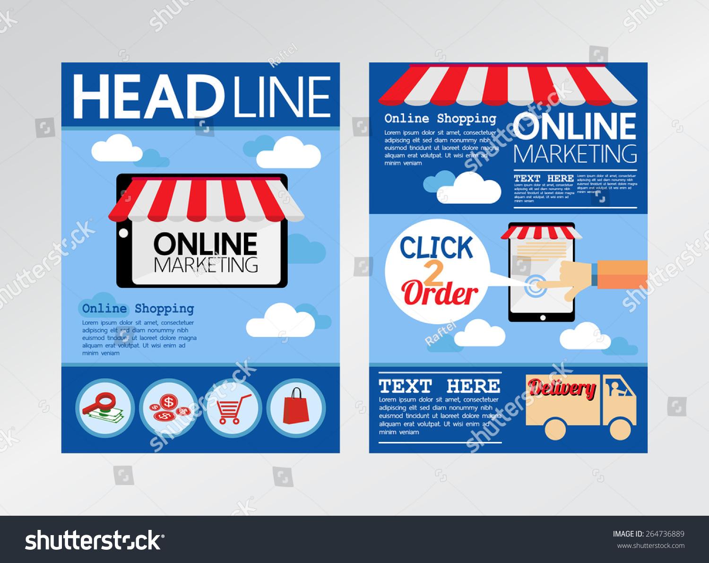 E Commerce Online Marketing Magazine Cover Stock Vector - Brochure template online