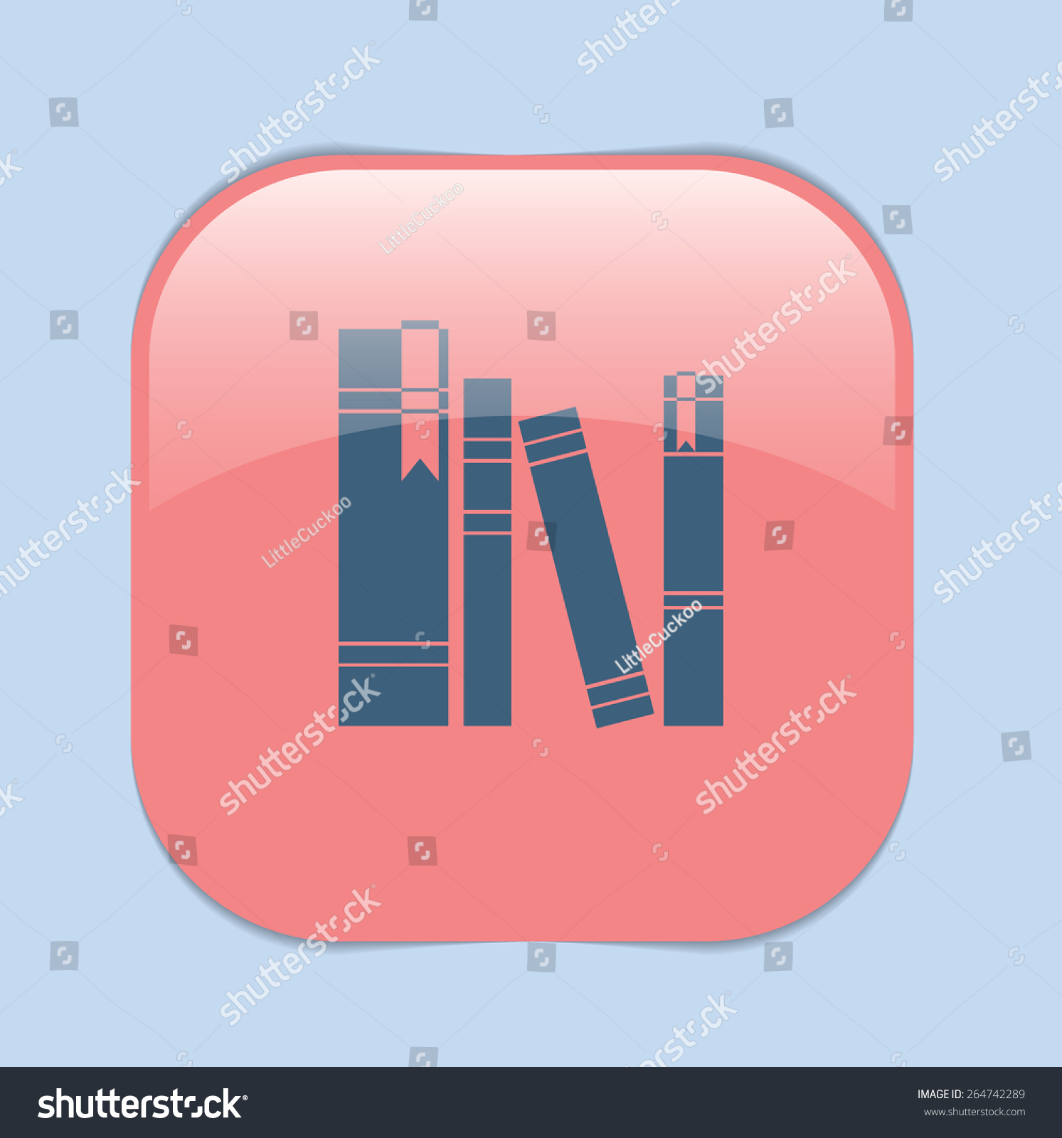 Book Spine Spines Books Icon Symbol Stock Vector 264742289