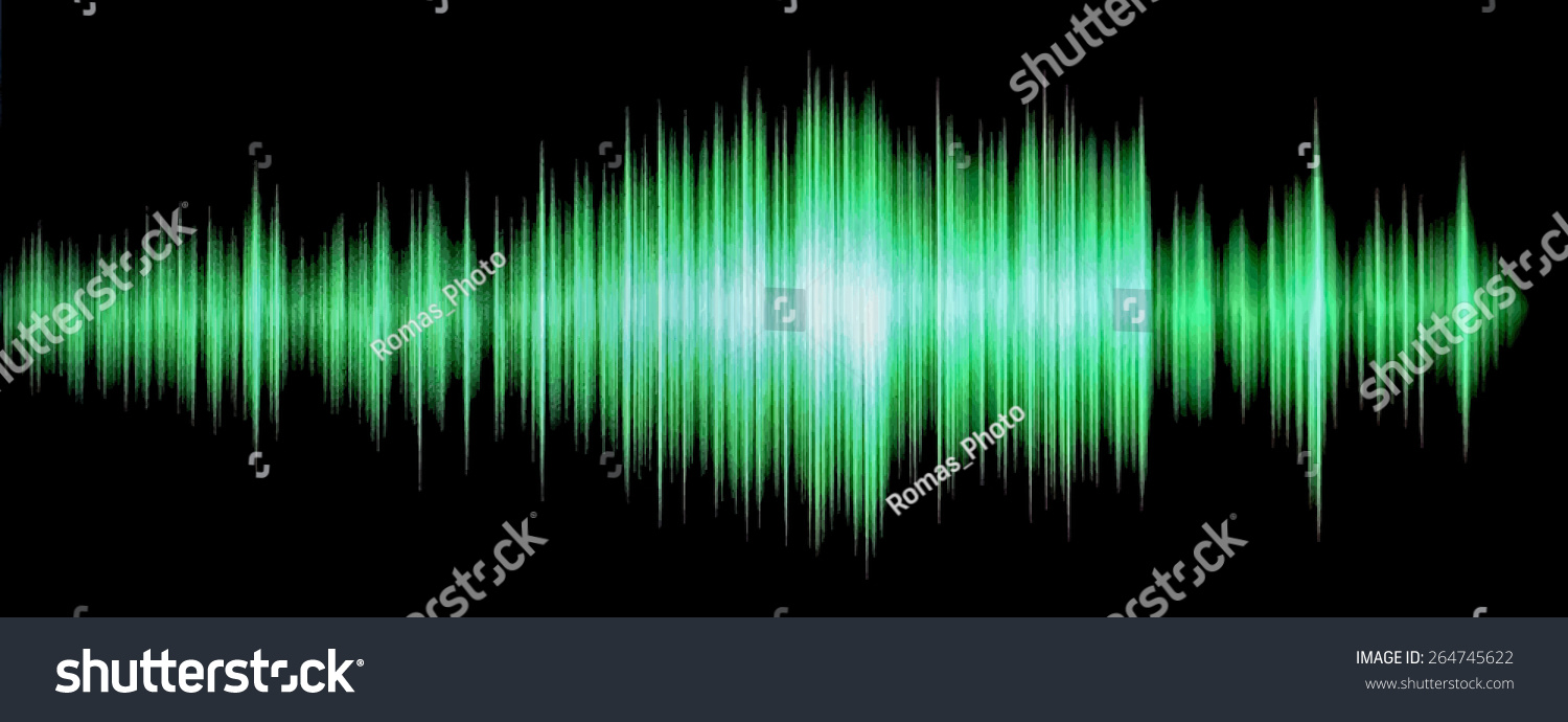 Colorful Waveform Vintage Abstract Background And Symbol For Music