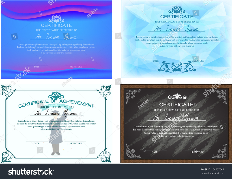 Certificate design templates images templates example free download certificate design templates images templates example free download set certificate design templates stock vector 264757667 shutterstock xflitez Image collections