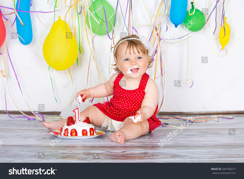 Happy Birthday Baby Little Girl Group Stock Photo Edit Now 264760217