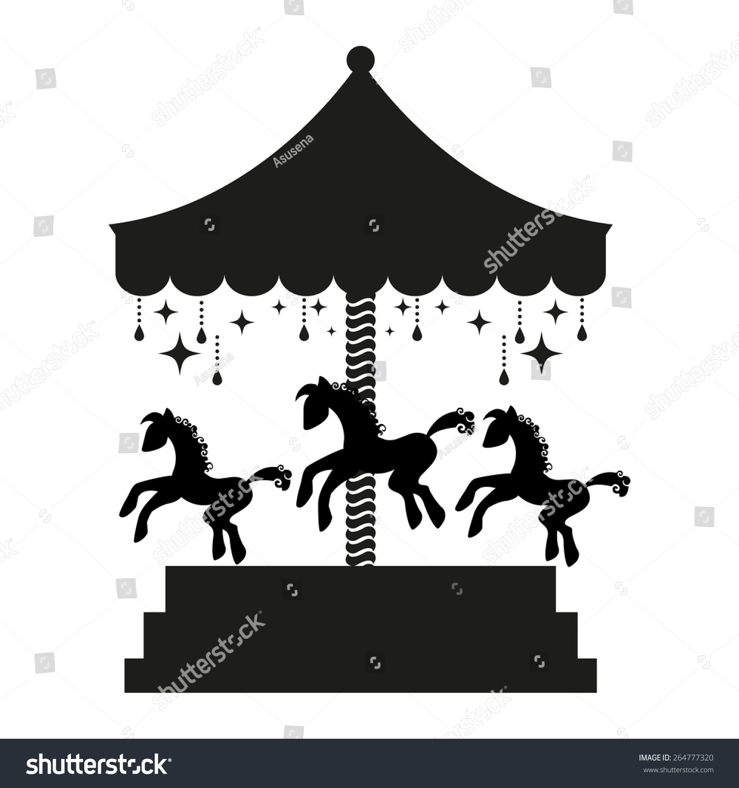 Carousel horse silhouette clip art - photo#19